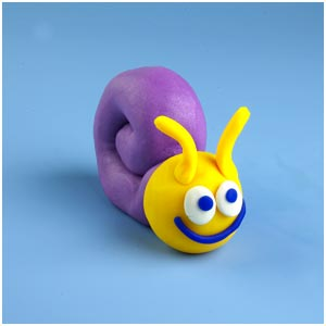 a play-doh snail